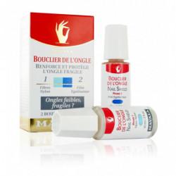 Bouclier de l'Ongle Renforce et Augmente la Résistance de l'Ongle Mou et Protège l'Ongle Fragile. En Deux Phases